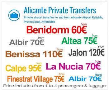 Alicante Airport Private Transfers