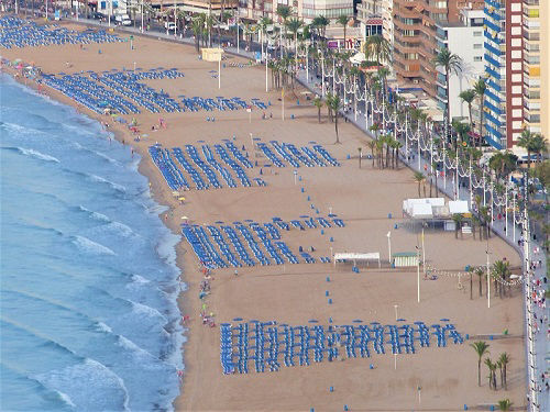 Playa Levante Promenade Benidorm Spain