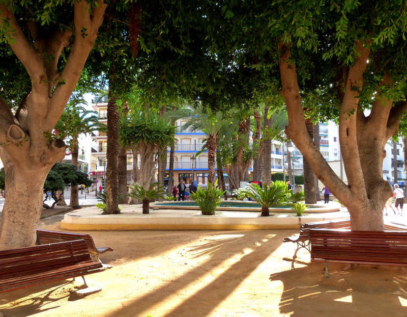 Park Elx (Dove Prak) in the old town Benidorm