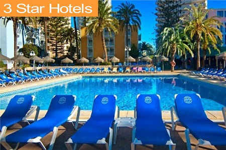 3 Star Hotels and Holidays in Benidorm Spain.