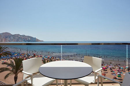 Don Cesar Boutique Apartments on the Levante beach front in Benidorm old town.