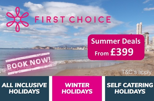 FIRST CHOICE Benidorm Holidays from self-catered to All Inclusive