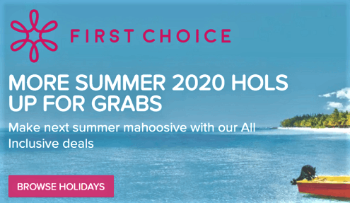 FIRST CHOICE Summer 2020, browse holidays.