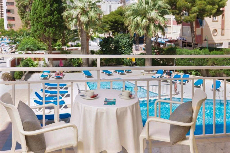 "3 Star Gala Placidia Hotel Benidorm - pool view ""Exrtra Exclusive"" balcony room."
