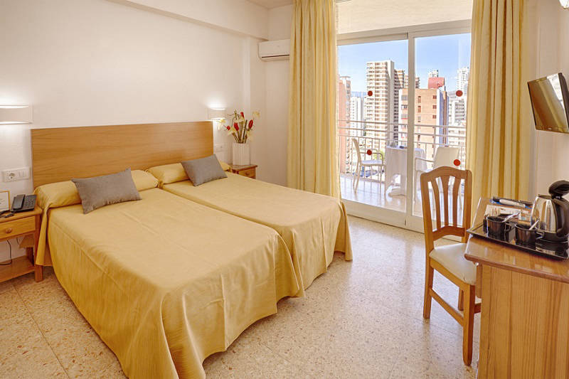 3 Star Gala Placidia Hotel Benidorm - upgrade Extra Exclusive room wiht pool view balconies