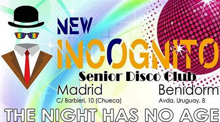 Incognito Disco, Pub for Mature men in Benidorm and Madrid.