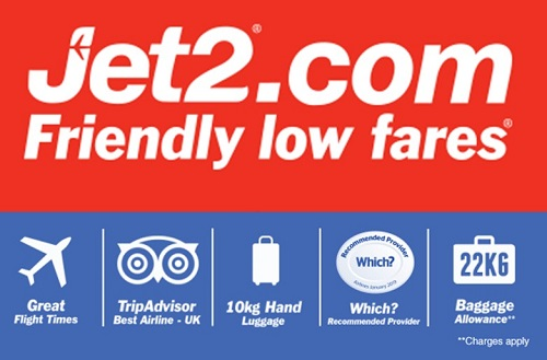 Jet2 flights with low fares and holidays with low prices.