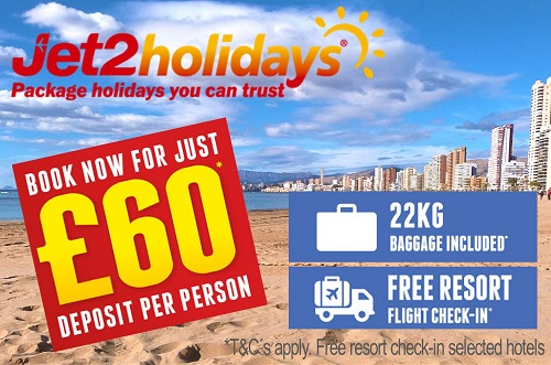 Jet2 Holidays Big Savings. Benidorm Holidays from £199