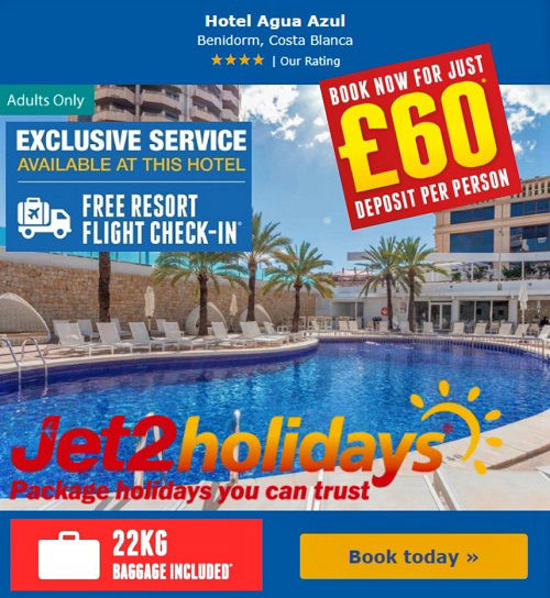 Benidorm Holidays: Winter 2019 2020 and Summer 2020 now on sale