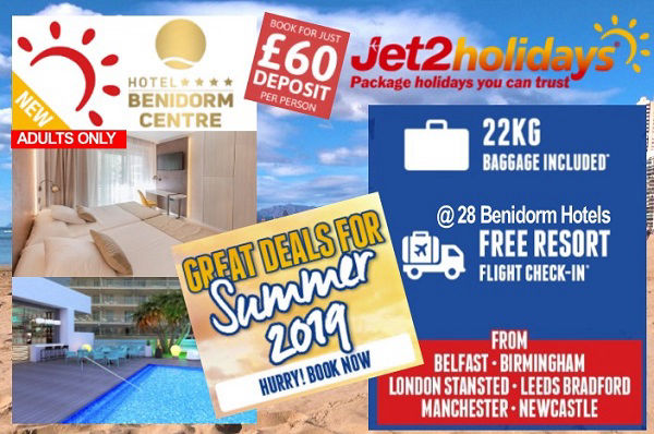 Jet2 All Inclusive Holidays in Benidorm.