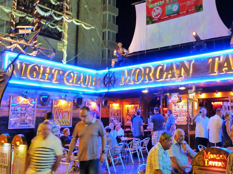 Morgan Tavern Night Club in the Rincon de Loix, Benidorm Levante.