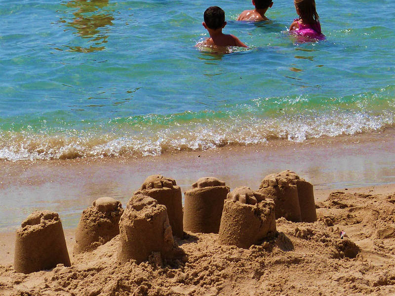 Sand Castles on the Levante Beach in Benidorm