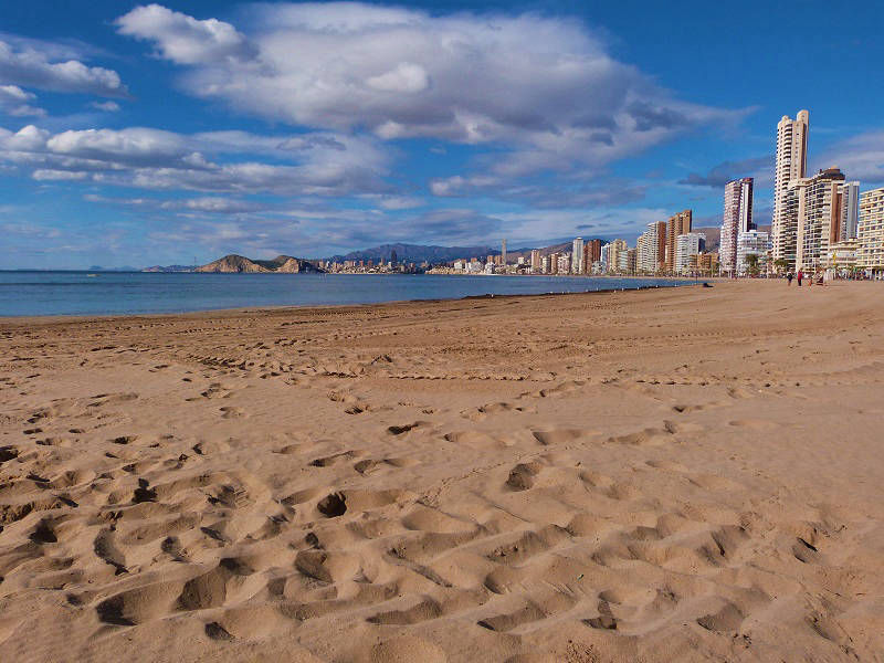 Playa Levante Benidorm Spain