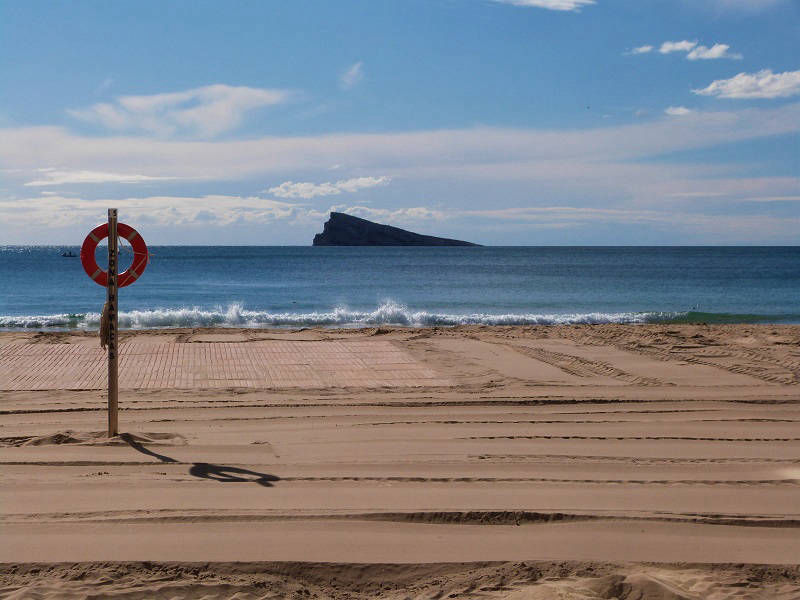 Early Morning Benidorm Levante Beach.