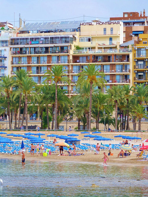 Montemar 3 star beachfront hotel Benidom Playa Poniente