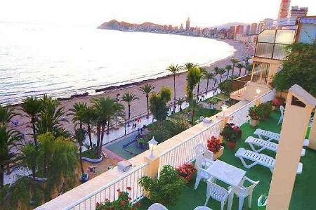 Montemar 3 star beachfront hotel Benidorm old town.