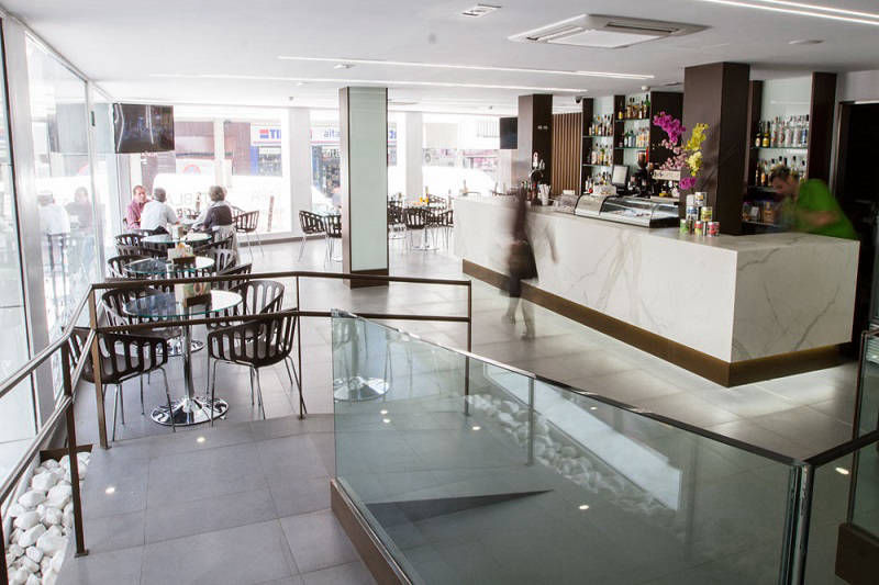 Montesol Hotel Old Town Benidorm Spain - lounge and reception - cafeteria bar