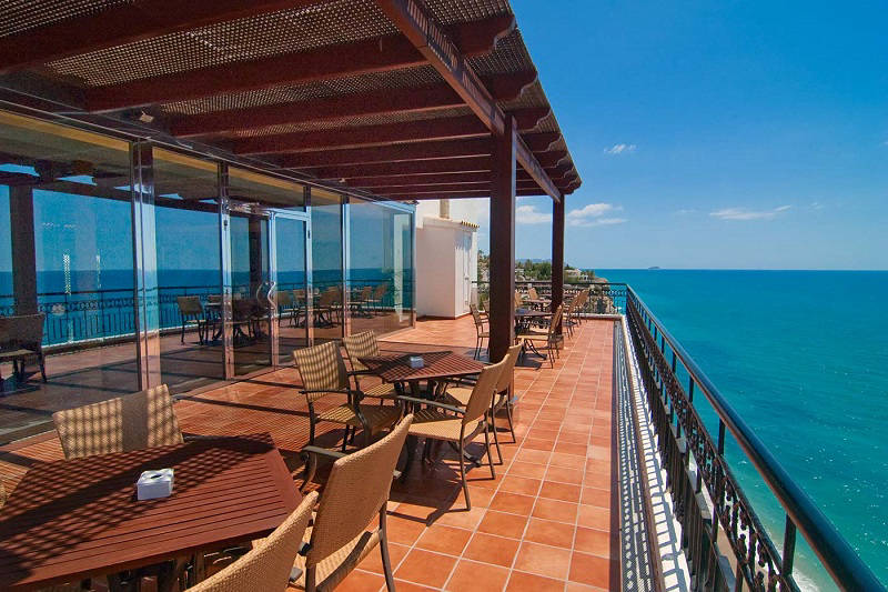 Servigroup Hotel Montiboli. Cliff top beach hotel Spain
