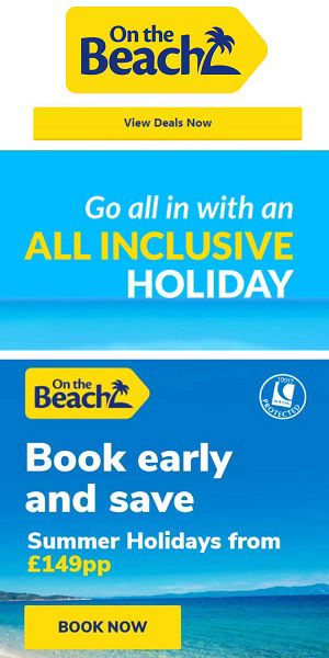 ontheBeach cheap holidays in Spain with low deposits.