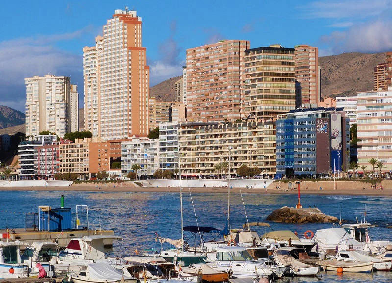 Playa Poniente view from the Harbour