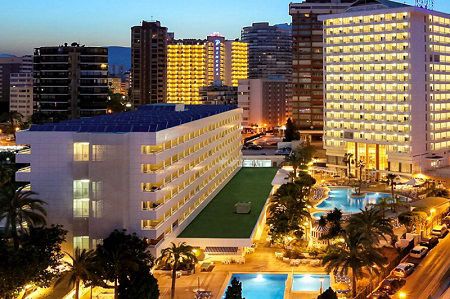 3 Star Poseiden Resort Hotel is in the Playa Levante Benidorm