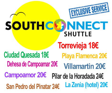 Alicante Airport Transfers by South Connect Shuttle