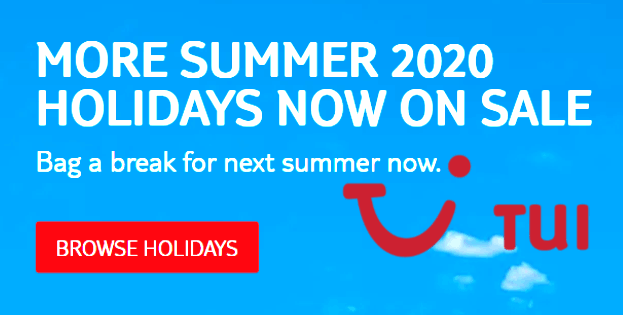 TUI Summer 2020, browse holidays.