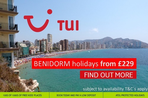 TUI Benidorm holidays from £229