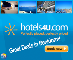 hotels4u are one of the cheapest online booking websites for hotels in Spain.  Great offers for Autumn/Winter Benidorm Hotels.