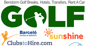 Golf Breaks in Benidorm, Golf Transfers, Minibus rental and Golf Hotels plus Golf Club Hire from Alicante airport