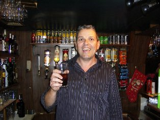 Rob your host sometimes your entertainer but mostly pulling pints!