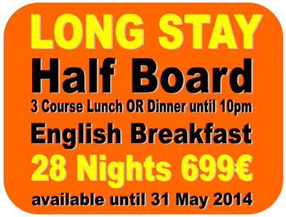 Benidorm Long Stay Winter holidays. 28 nights at the Queen�s Hotel only 699� Half Board.