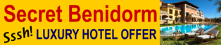 Luxury hotel offers in Benidorm Spain for romantic weekend breaks. Golf and Spa Hotel